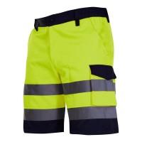 Pantaloni reflectorizanti scurti, 4 buzunare, cusaturi duble, talie ajustabila, marime L, Verde