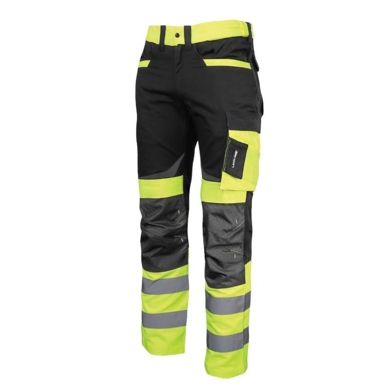 Pantaloni reflectorizanti slim-fit, cusaturi triple, 8 buzunare, gaici pentru curea, marime S shopu.ro
