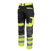 Pantaloni reflectorizanti slim-fit, cusaturi triple, 8 buzunare, gaici pentru curea, marime XL