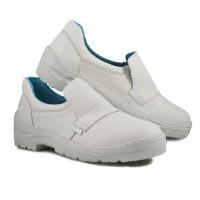 Pantofi microfibra Kolmax, marimea 44, captuseala mesh, Alb