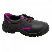 Pantofi piele Lahti Pro, interior nuantat, marimea 37, negru/roz