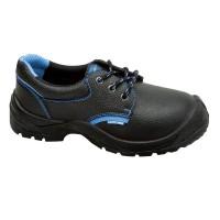Pantofi piele Lahti Pro, interior nuantat, marimea 42, negru/albastru