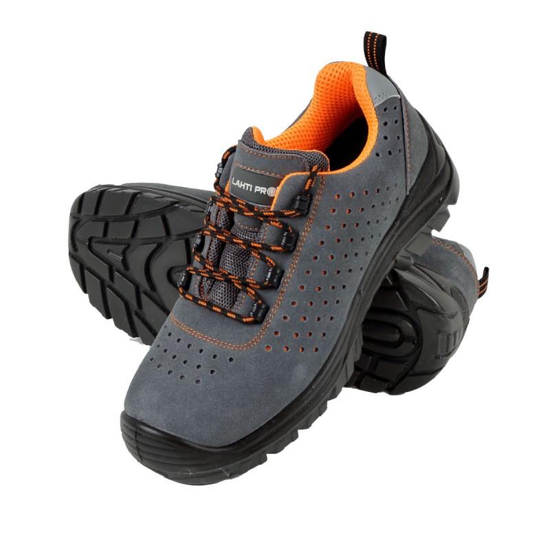 Pantofi piele intoarsa Lahti Pro, perforati, marimea 45 shopu.ro