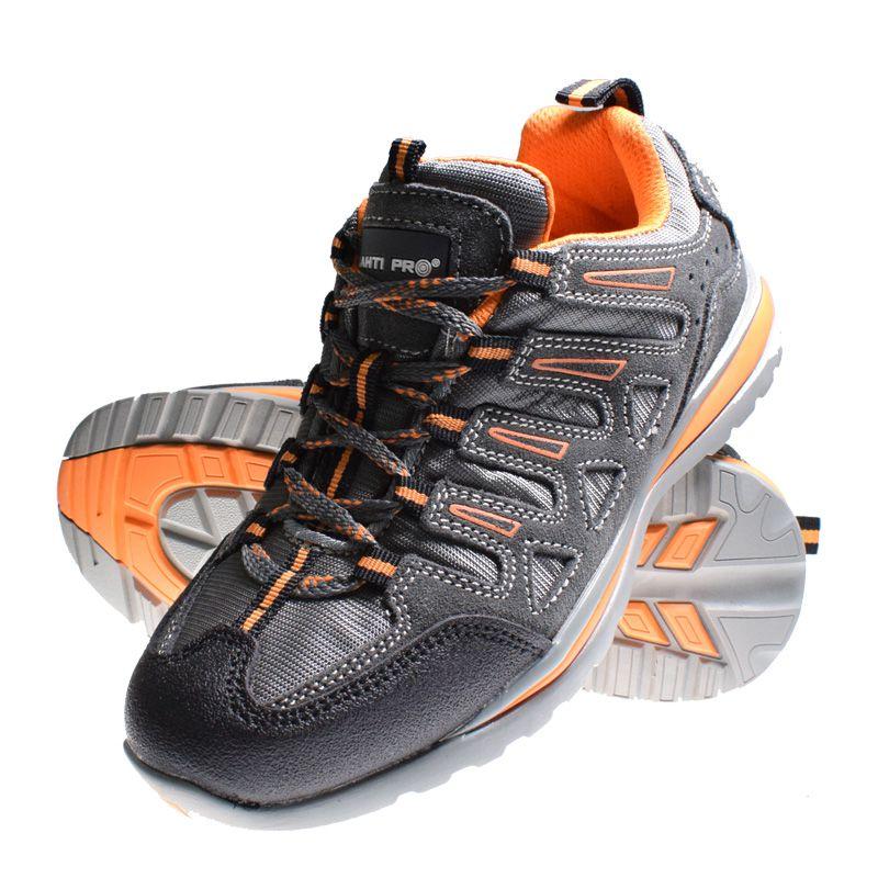 Pantofi piele intoarsa Lahti Pro, tesatura cauciuc, marimea 42, negru 2021 shopu.ro