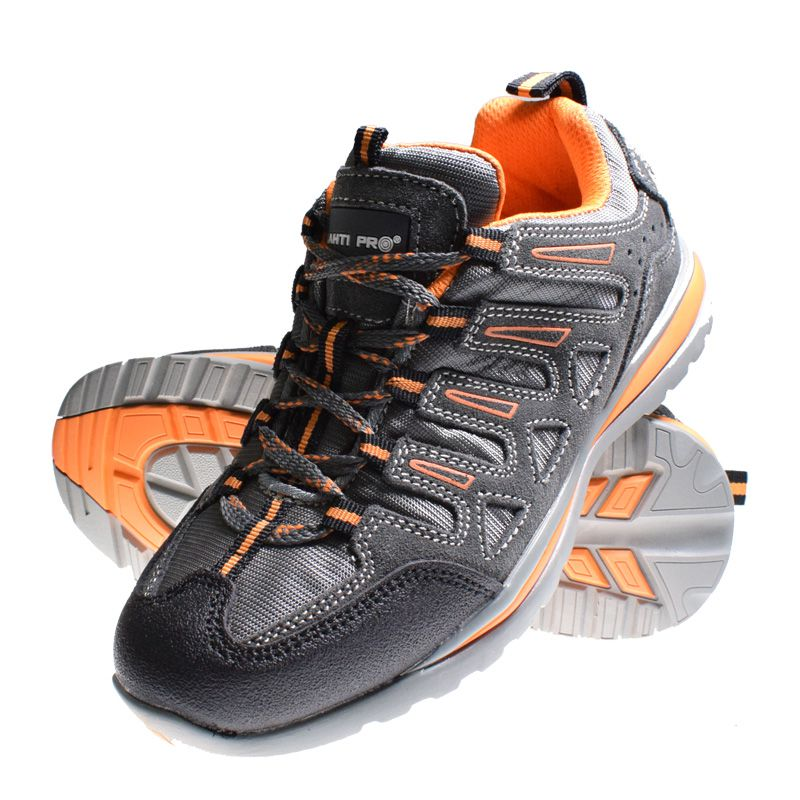 Pantofi piele intoarsa Lahti Pro, tesatura cauciuc, marimea 43, negru 2021 shopu.ro