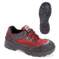 Pantofi piele intoarsa Demar, marimea 41, Negru/Rosu