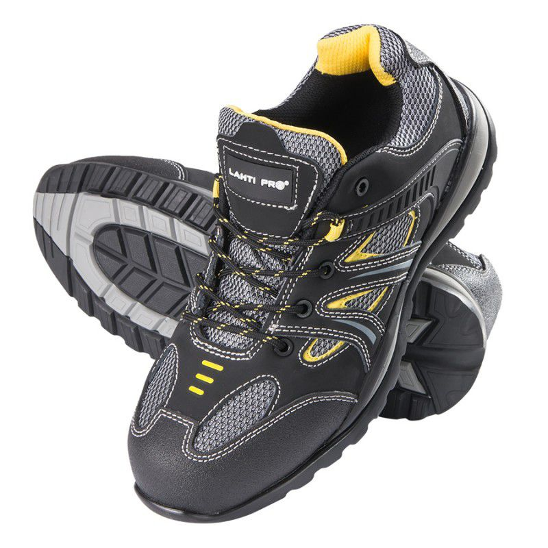 Pantofi piele velur Lahti Pro, tesut cu cauciuc, marimea 44 shopu.ro