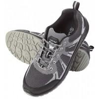Pantofi Lahti Pro, marime 45, plasa tricotata, varf otel, talpa poliuretan, S1SRC, Gri/Negru