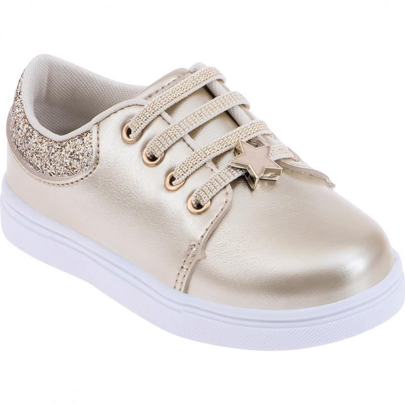 Pantofi fetite cu steluta Pimpolho, marimea 24, 14.7 cm, 19-24 luni, Auriu 2021 shopu.ro