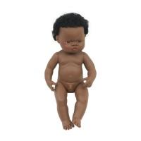Papusa baiat african Miniland, 38 cm