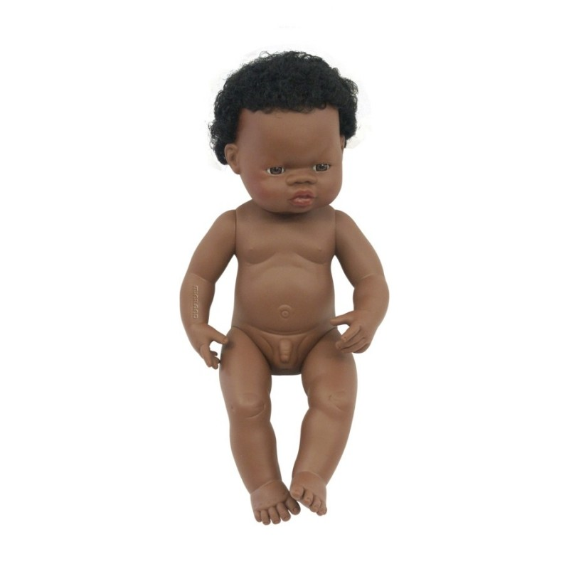 Papusa baiat african Miniland, 38 cm 2021 shopu.ro