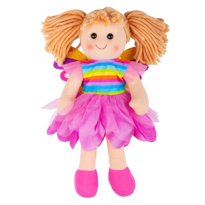 Papusa Chloe Bigjigs Toys, 30 cm, textil, 12 luni+, Multicolor