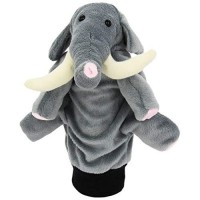 Papusa de mana Elefantel Beleduc, 220 mm, material textil, 0 luni+