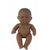 Papusa fetita sudamericana Miniland, 21 cm, 2 ani+