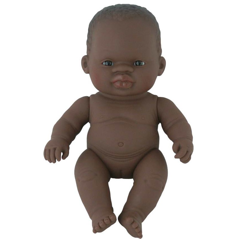 Papusa vinil fetita africana Miniland, 21 cm 2021 shopu.ro