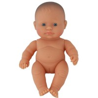 Papusa fetita europeana Miniland, vinil, 21 cm