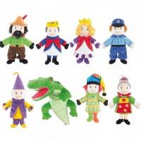 Papusi de mana Beleduc, 8 personaje, multicolor