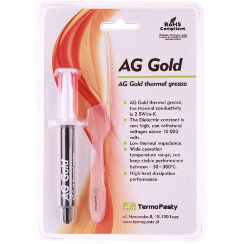 Pasta termoconductoare pe baza de aur Gold AG, 2.8 W/mK, 3 grame shopu.ro