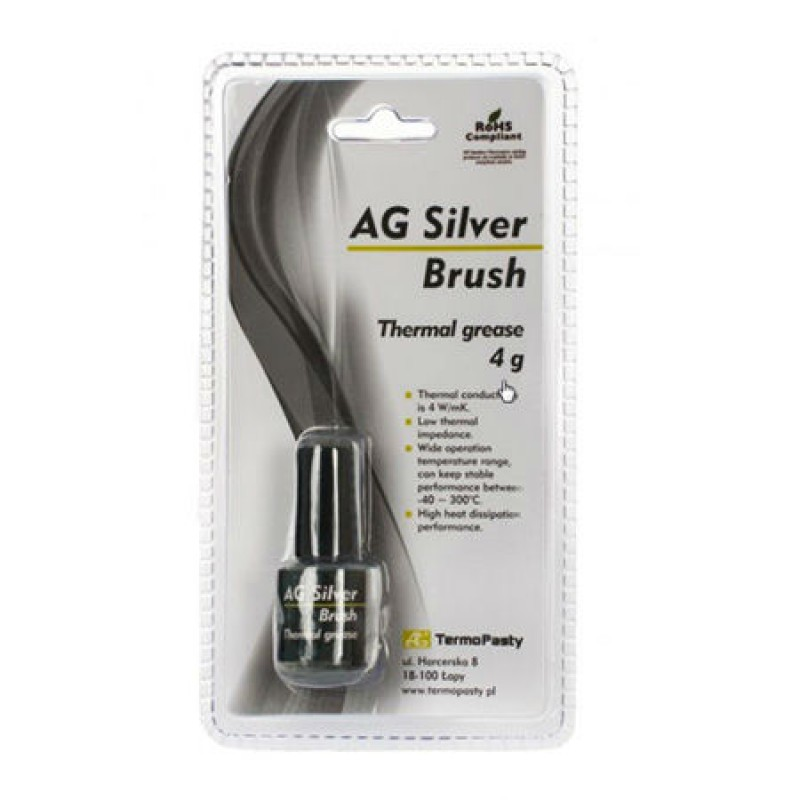 Pasta termoconductoare pe baza de argint Silver Brush, 4 grame 2021 shopu.ro