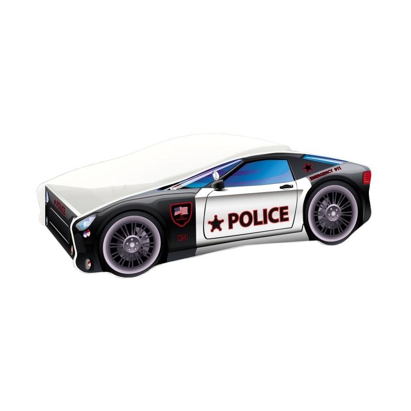 Pat copii Race Car Police MyKids, 140 x 70 cm, pal, maxim 90 kg, 3 ani+ 2021 shopu.ro