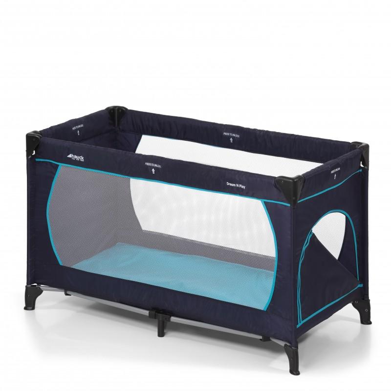 Pat voiaj Dream'n Play Plus, husa lavabila, fermoar, geanta transport, Navy/Aqua 2021 shopu.ro