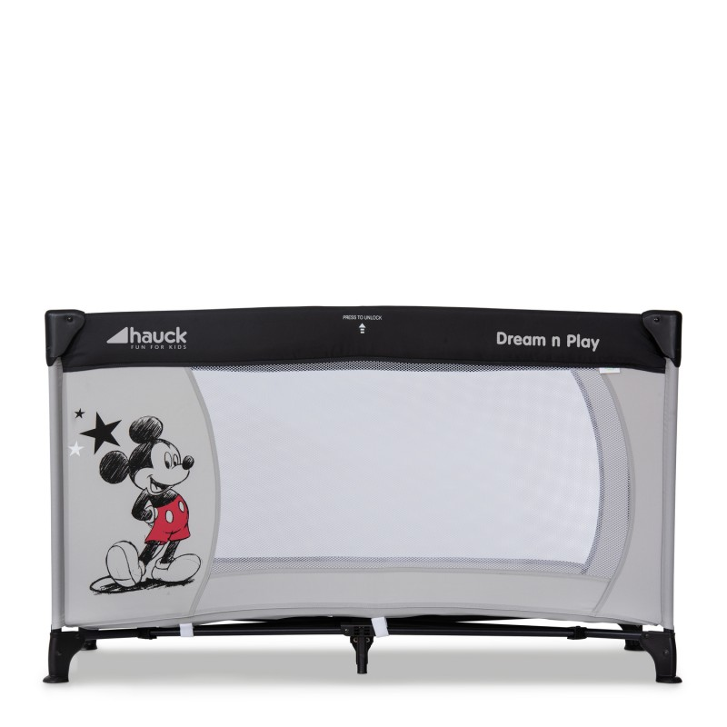 Patut pliabil Dream'n Play Mickey Star Hauck, saltea inclusa, 120 x 60 cm, maxim 15 kg, 0 luni+ 2021 shopu.ro