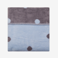 Paturica bebelusi Bumbac Buline Womar Zaffiro, 100 x 150 cm, Albastru/Gri