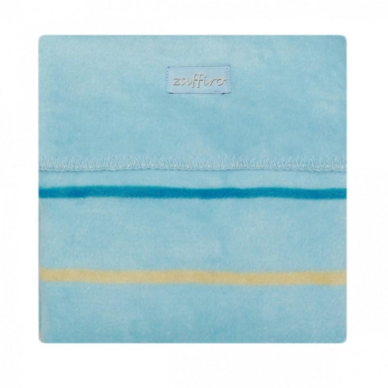 Paturica bebelusi Bumbac Linii Womar Zaffiro, 75 x 100 cm, Albastru 2021 shopu.ro