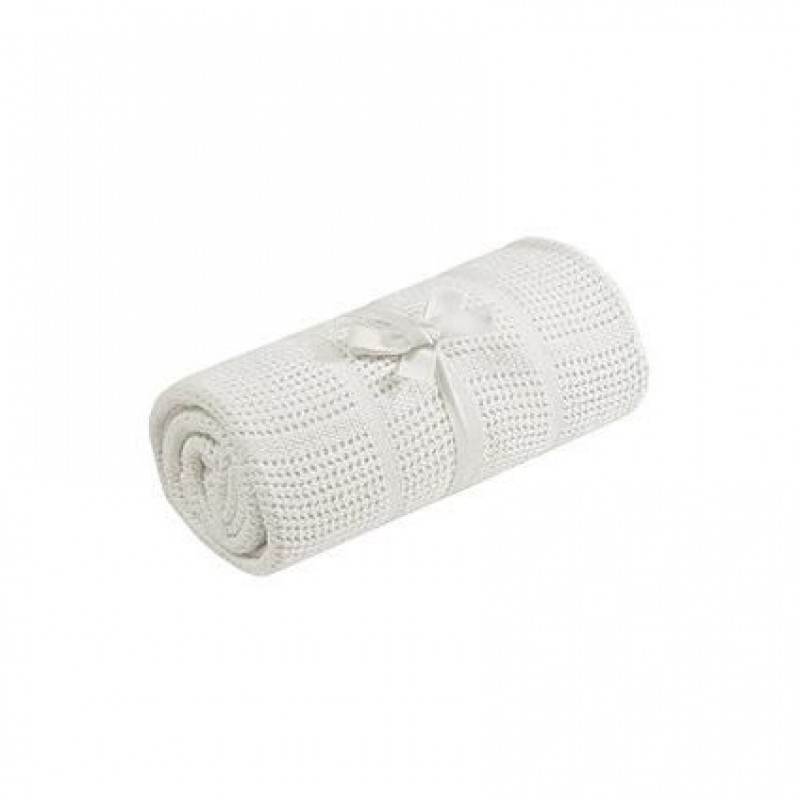 Paturica celulara din bambus Comfi Love Bright White, 90 x 60 cm 2021 shopu.ro