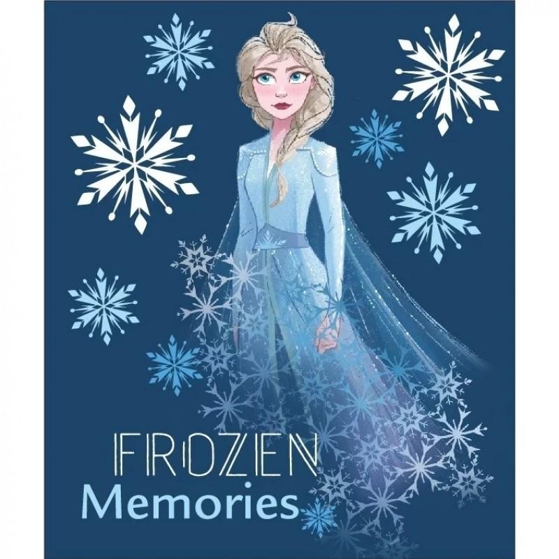 Paturica mole Frozen Memories SunCity, 120 x 140 cm, poliester, Albastru 2021 shopu.ro