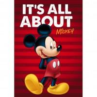 Paturica copii Mickey Star, 100 x 150 cm, poliester
