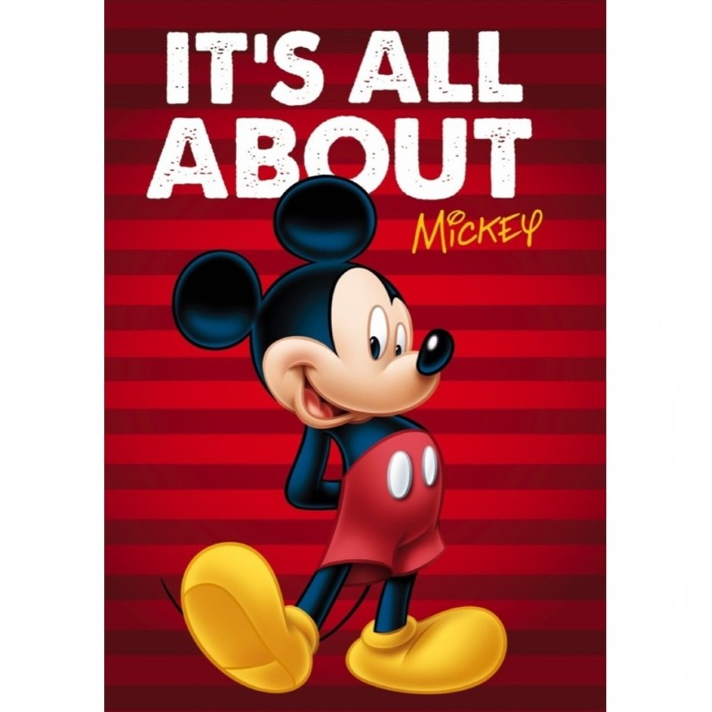 Paturica copii Mickey Star, 100 x 150 cm, poliester 2021 shopu.ro