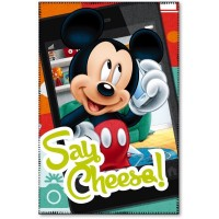 Paturica copii Mickey Say Cheese Star, 100 x 150 cm, poliester