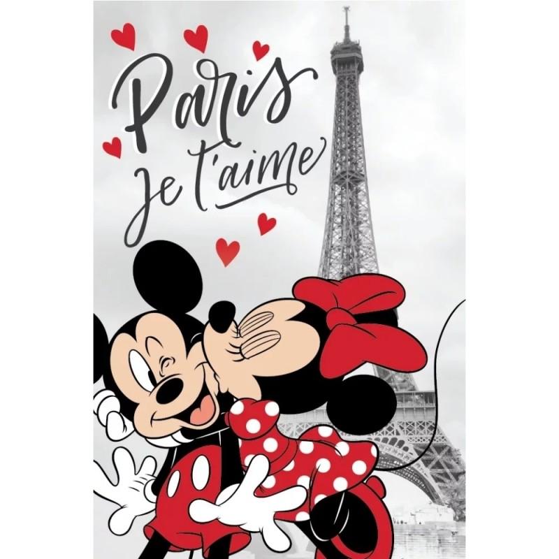 Paturica moale Minnie Paris SunCity, 100 x 150 cm, poliester, Multicolor 2021 shopu.ro