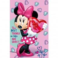 Paturica copii SunCity, model Minnie Sweet, 100 x 150 cm, 0 luni+