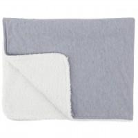 Paturica reversibila din tricot/fleece Comfi Love Grey, 90 x 70 cm