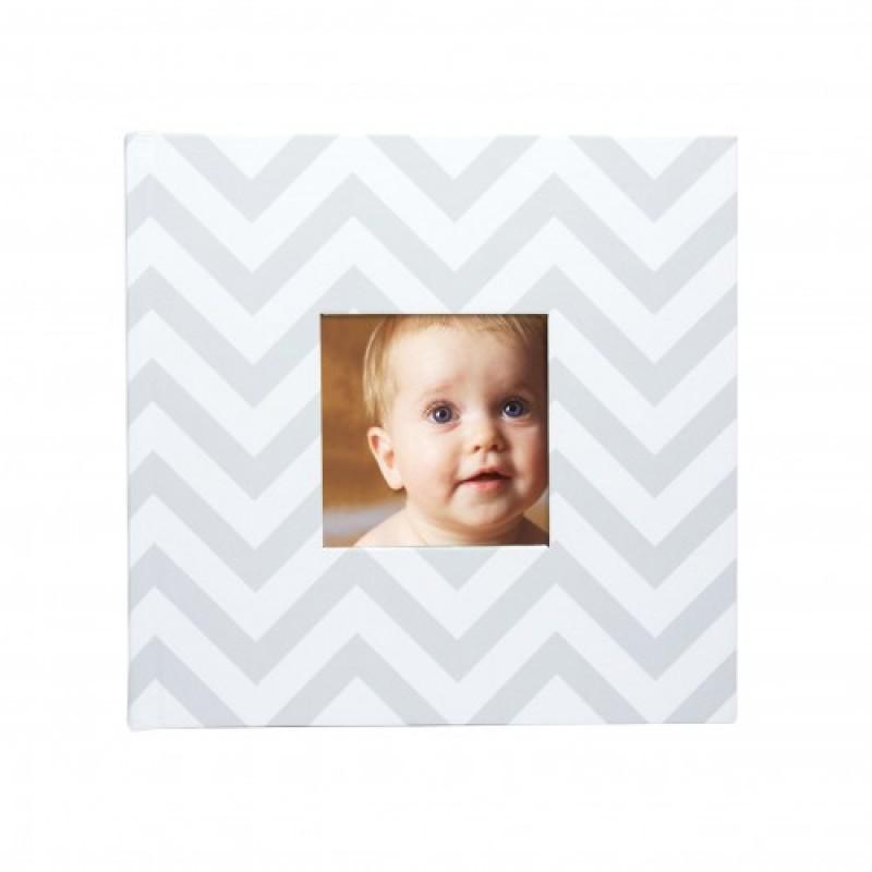Album foto bebe Pearhead, 23.4 x 22.22 x 4.11 cm, 50 pagini, Gri 2021 shopu.ro