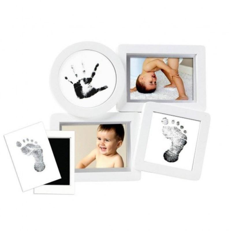 Kit rama foto multipla cu amprente cerneala Pearhead, 7.5 x 10 cm, 6 cartonase