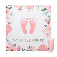 Tablou canvas amprenta bebelusi Pearhead, 25 x 25 x 2.5 cm, Multicolor