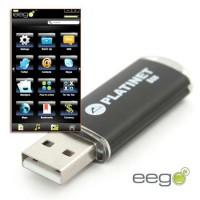 Memorie pendrive USB X-Depo Platinet, capaciate 8 GB, criptare AES