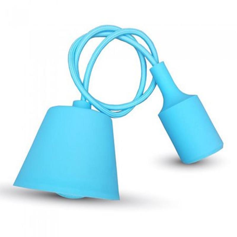Pendul pentru tavan, 60 W, lungime 1 m, soclu E27, Albastru deschis shopu.ro