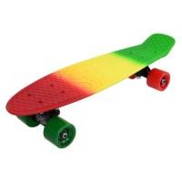 Penny board DHS, 22 inch, 55 x 15 cm, PVC, cadru aluminiu, maxim 100 kg, model jamaica, Multicolor