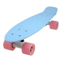 Penny board DHS, 22 inch, 55 x 15 cm, PVC, maxim 100 kg, Albastru