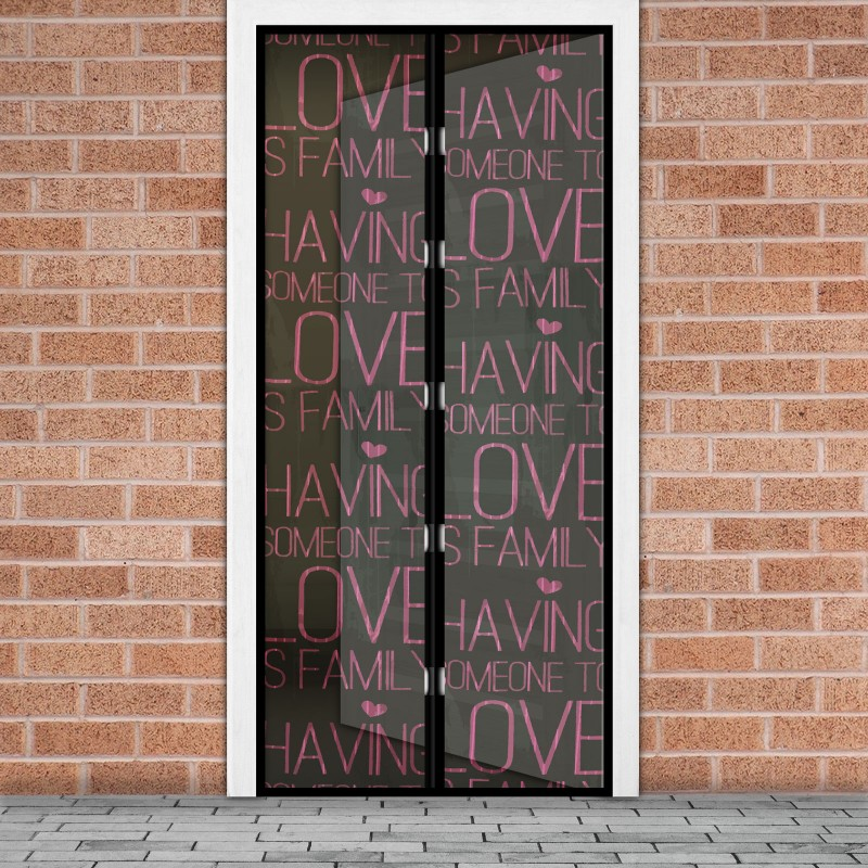 Plasa tantari pentru usa Delight, 100 x 210 cm, inchidere magnetica, model Love 2021 shopu.ro