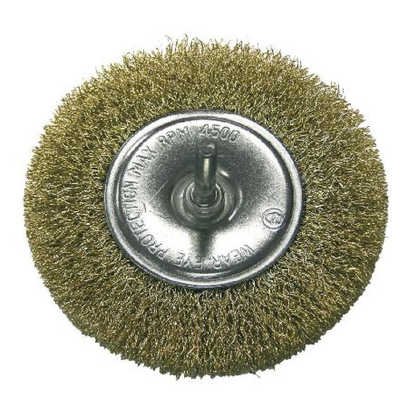 Perie sarma de alama Proline, 75 mm, tip circular cu tija shopu.ro