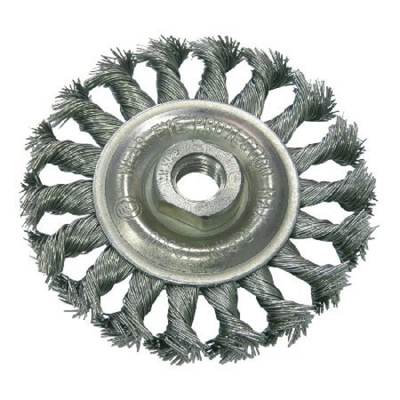 Perie sarma impletita cu filet Proline, tip circular, 125 mm shopu.ro