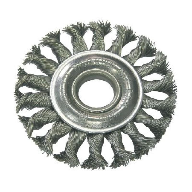 Perie sarma impletita cu orificiu Proline, tip circular, 115 mm shopu.ro