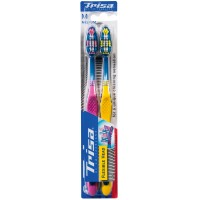 Set 2 periute de dinti Trisa Flexible Head 3 Duo Medium, cap flexibil