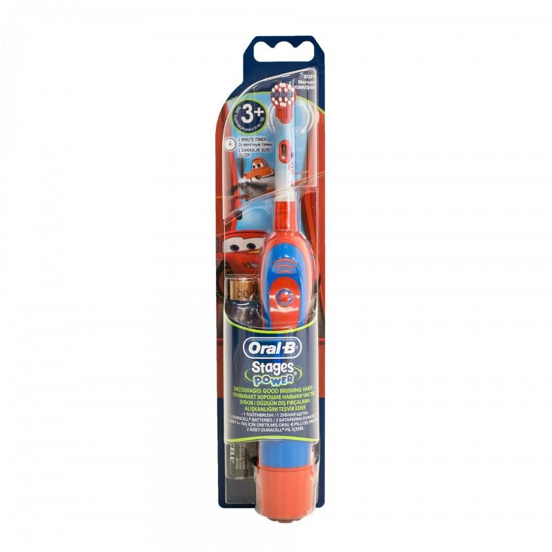 Periuta electrica Oral B D2010 Baby, model pentru baieti, 3 ani+