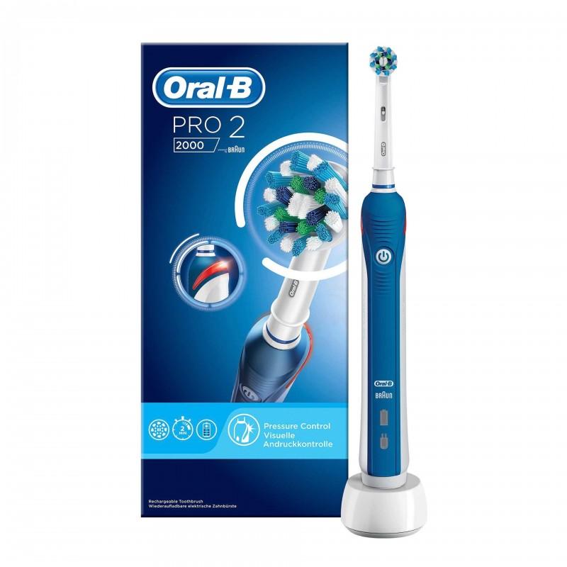 Periuta electrica Oral B PRO 2000 Cross Action, 40000 pulsatii/min 2021 shopu.ro